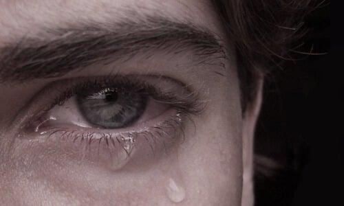 Olhar triste de Frustração