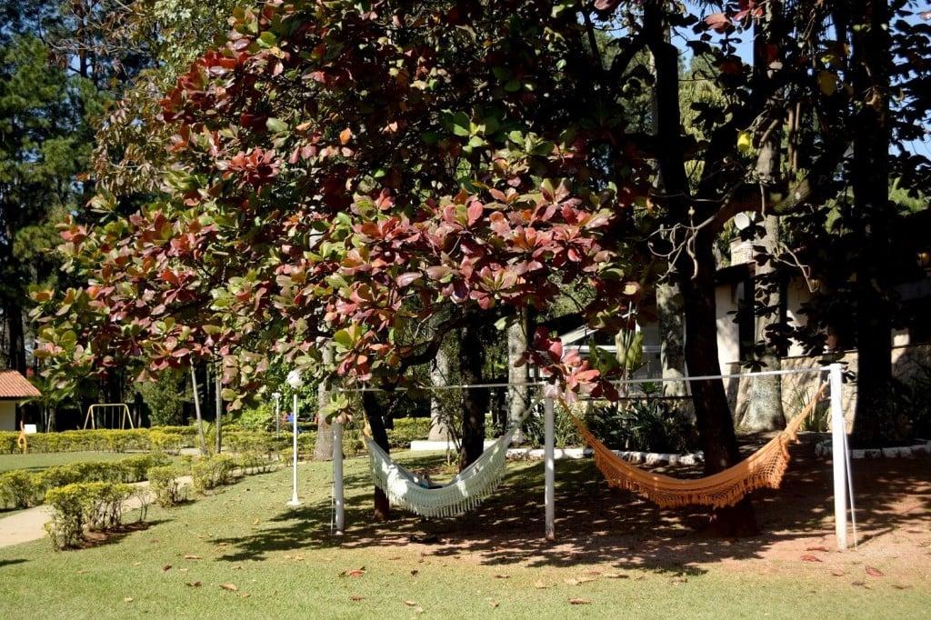 Área externa com Redes para relaxar no SPA Sorocaba