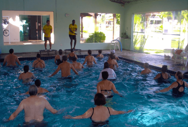 Hidroginastica Piscina Coberta do SPA Sorocaba