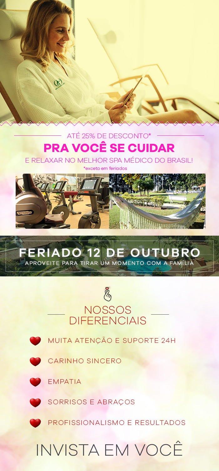 Até 25% de Desconto para Você se Cuidar e Relaxar no Melhor SPA Médico do Brasil!