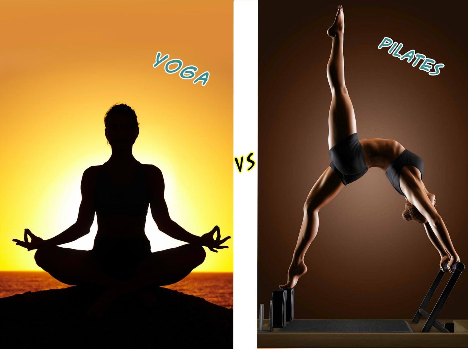 Pilates parecido com yoga